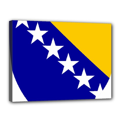 Coat Of Arms Of Bosnia And Herzegovina Canvas 16  X 12
