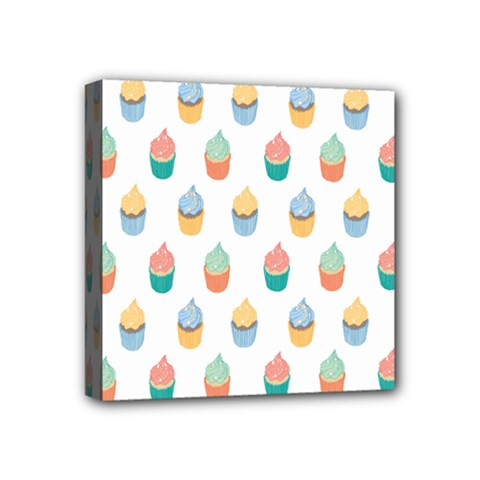 Cup Cake Mini Canvas 4  X 4  by Jojostore