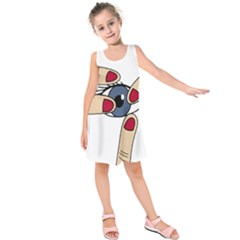 Poke Kids  Sleeveless Dress by Valentinaart
