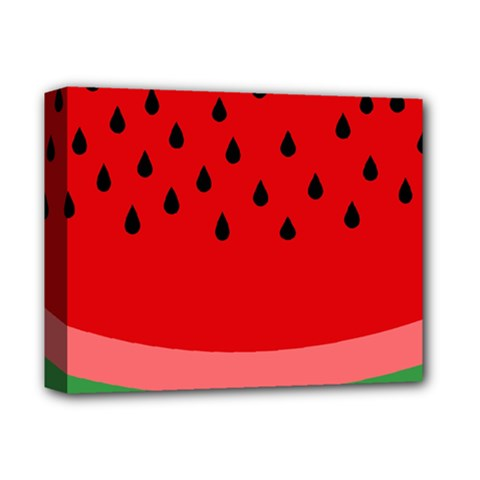 Watermelon  Deluxe Canvas 14  X 11  by Valentinaart