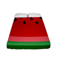 Watermelon  Fitted Sheet (full/ Double Size) by Valentinaart