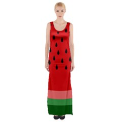 Watermelon  Maxi Thigh Split Dress by Valentinaart