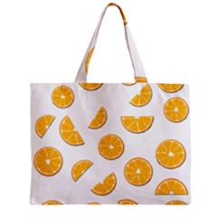 Oranges Zipper Mini Tote Bag by Valentinaart