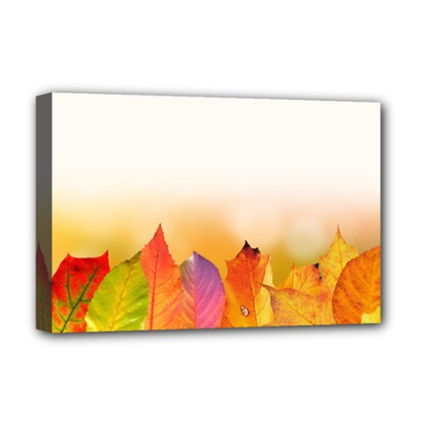 Autumn Leaves Colorful Fall Foliage Deluxe Canvas 18  X 12   by Amaryn4rt