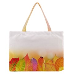 Autumn Leaves Colorful Fall Foliage Medium Zipper Tote Bag