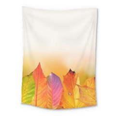 Autumn Leaves Colorful Fall Foliage Medium Tapestry by Amaryn4rt
