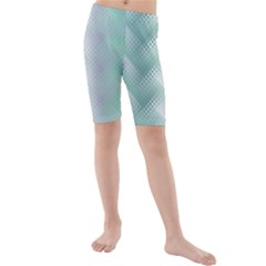 Background Bubblechema Perforation Kids  Mid Length Swim Shorts by Amaryn4rt