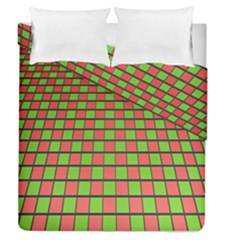Green Red Box Duvet Cover Double Side (queen Size)