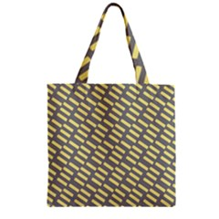 Yellow Washi Tape Tileable Zipper Grocery Tote Bag