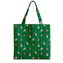 Pig Face Zipper Grocery Tote Bag