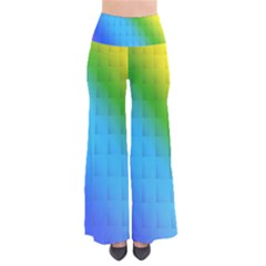 Rainbow Color Orange Yellow Green Purple Pants