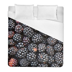 Blackberries Background Black Dark Duvet Cover (full/ Double Size) by Amaryn4rt