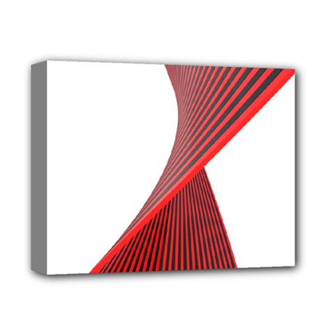 Red Black White Deluxe Canvas 14  X 11  by Jojostore