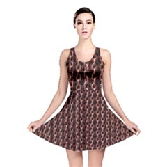 Chain Rusty Links Iron Metal Rust Reversible Skater Dress by Amaryn4rt
