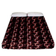Chain Rusty Links Iron Metal Rust Fitted Sheet (king Size) by Amaryn4rt