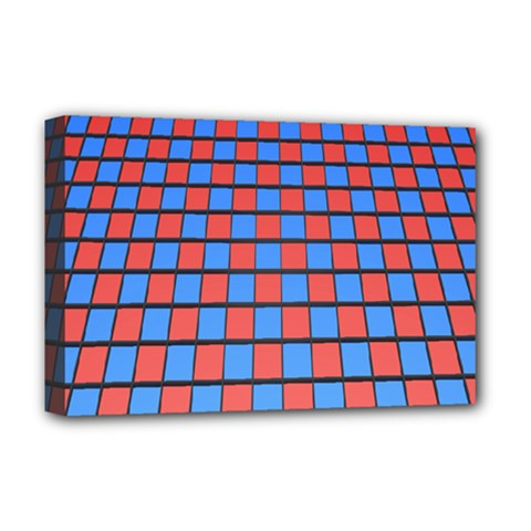 Red Blue Deluxe Canvas 18  X 12