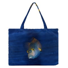 Fish Blue Animal Water Nature Medium Zipper Tote Bag by Amaryn4rt
