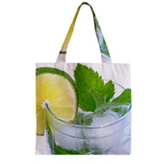 Cold Drink Lime Drink Cocktail Zipper Grocery Tote Bag