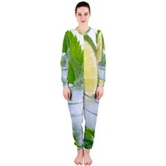 Cold Drink Lime Drink Cocktail Onepiece Jumpsuit (ladies)