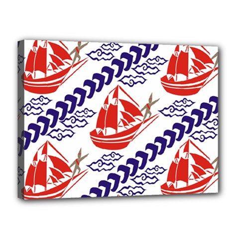 Sailing Boat Canvas 16  X 12  by Jojostore