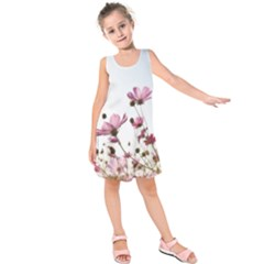 Flowers Plants Korea Nature Kids  Sleeveless Dress by Amaryn4rt