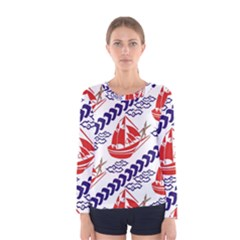Sailing Boat Women s Long Sleeve Tee by Jojostore