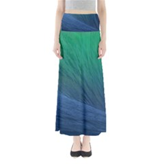 Sea Wave Water Blue Maxi Skirts by Jojostore