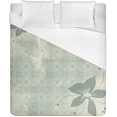 Shadow Flower Gray Duvet Cover (california King Size)