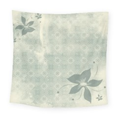 Shadow Flower Gray Square Tapestry (large) by Jojostore