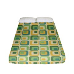 Square Green Yellow Fitted Sheet (full/ Double Size)