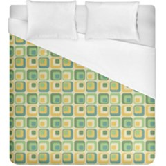 Square Green Yellow Duvet Cover (king Size)