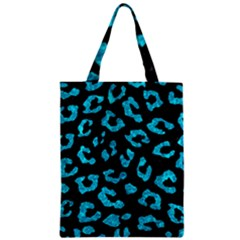 Skin5 Black Marble & Turquoise Marble (r) Zipper Classic Tote Bag by trendistuff