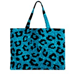 Skin5 Black Marble & Turquoise Marble Zipper Mini Tote Bag by trendistuff