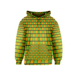 Tile Of Yellow And Green Kids  Zipper Hoodie