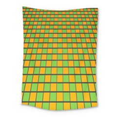 Tile Of Yellow And Green Medium Tapestry