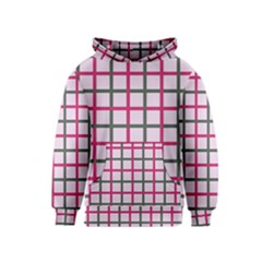 Tiles On Light Pink Kids  Pullover Hoodie