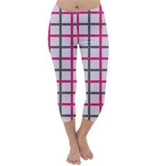 Tiles On Light Pink Capri Winter Leggings  by Jojostore