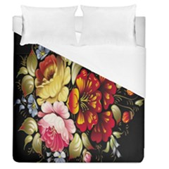 Ultra Texture Flowers Duvet Cover (queen Size) by Jojostore
