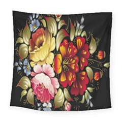 Ultra Texture Flowers Square Tapestry (large)