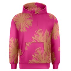 Yellow Flowers On Pink Background Pink Men s Pullover Hoodie