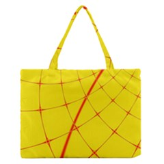 Yellow Redmesh Medium Zipper Tote Bag by Jojostore