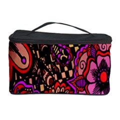 Sunset Floral  Flower Purple Cosmetic Storage Case