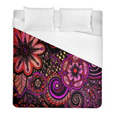 Sunset Floral  Flower Purple Duvet Cover (full/ Double Size) by Jojostore