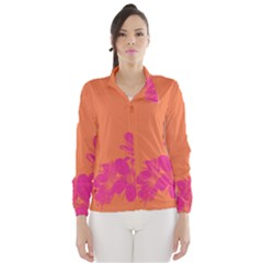 Flower Orange Pink Wind Breaker (women)