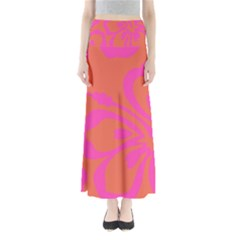 Flower Pink Orange Maxi Skirts