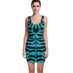 Skin2 Black Marble & Turquoise Marble Bodycon Dress by trendistuff
