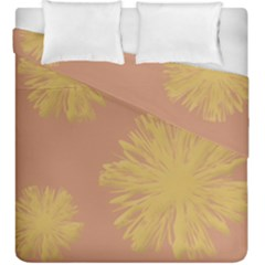 Flower Yellow Brown Duvet Cover Double Side (king Size)