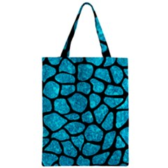 Skin1 Black Marble & Turquoise Marble Zipper Classic Tote Bag by trendistuff