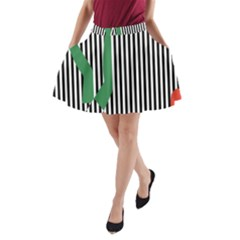 Girl Collective Artists A Line Pocket Skirt by Jojostore