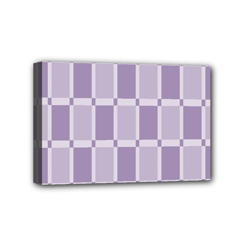 Gray Purple Mini Canvas 6  X 4  by Jojostore